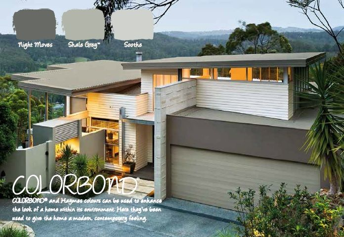 The 8 Best Colorbond Images On Pinterest Exterior Colors Exterior Homes And House Exteriors