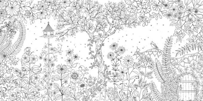 Secret Garden Colouring In For All Isnt Just Kids These Intricate Magical Drawings From By Johanna Basfor