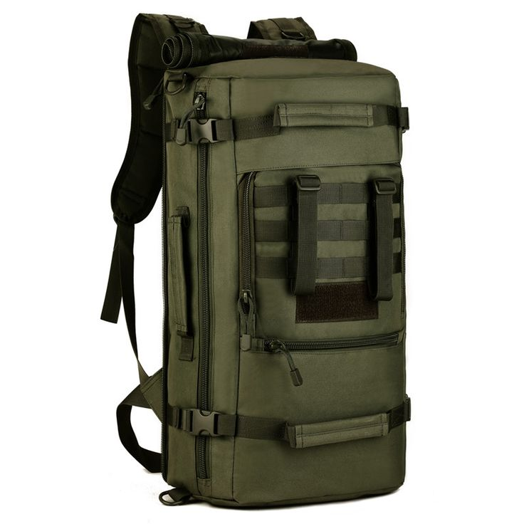50L Large Outdoor Sports Bag Camping Hiking Climbing Pack Fishing Bags Multifunction Military Tactical Backpack Cycling Bag