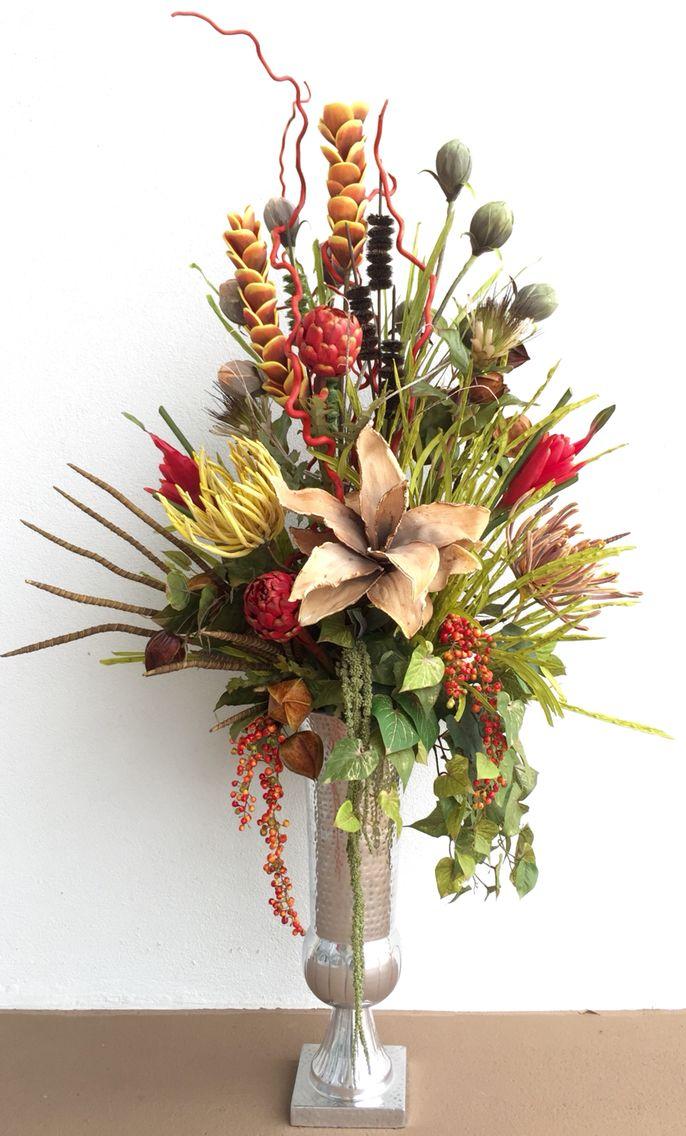 modern exotic floral arrangement designed by arcadia floral home decor - Silk Arrangements For Home Decor