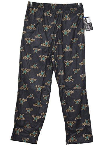Dallas Stars Youth NHL Logo Pajama Pants  https://allstarsportsfan.com/product/dallas-stars-youth-nhl-logo-pajama-pants/  100% polyester Elastic waistband Made by Outerstuff