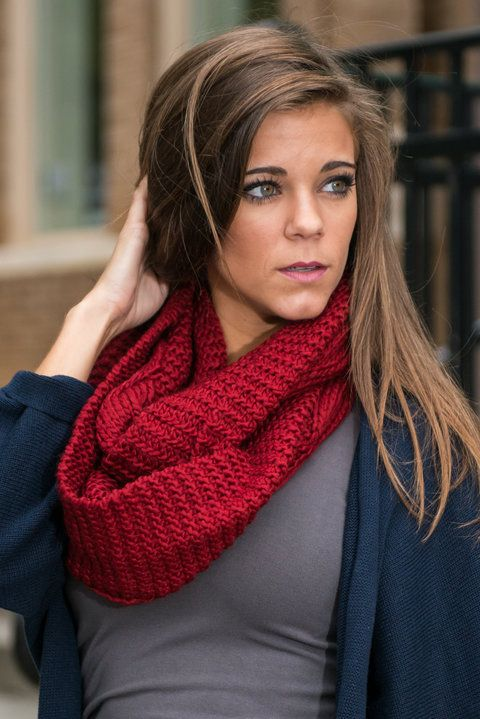 Warm Tracker Infinity Scarf, Burgundy - The Mint Julep Boutique