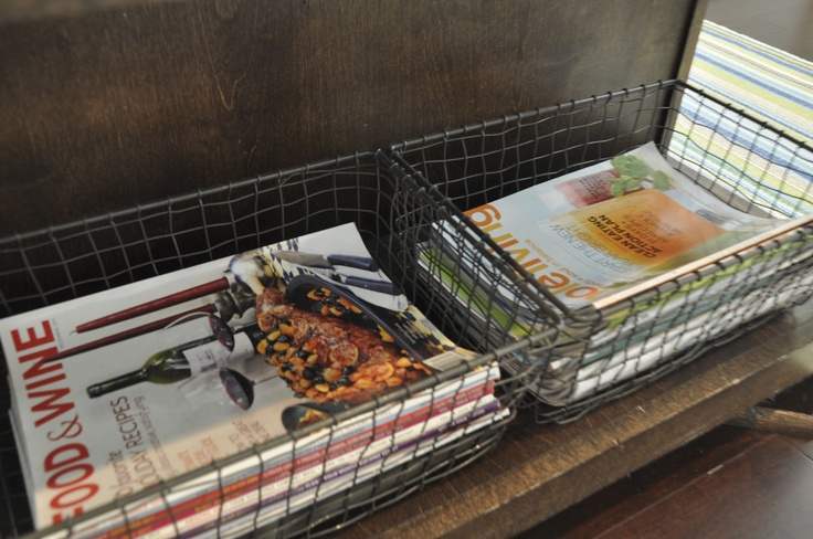 Iron baskets via Container Store
