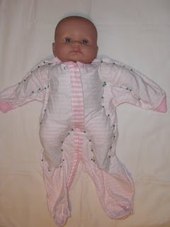 Make baby clothes into doll clothes. @Alescia Leinart Leinart Colvin-you might need this some day. And you can put your new sewing machine to work!