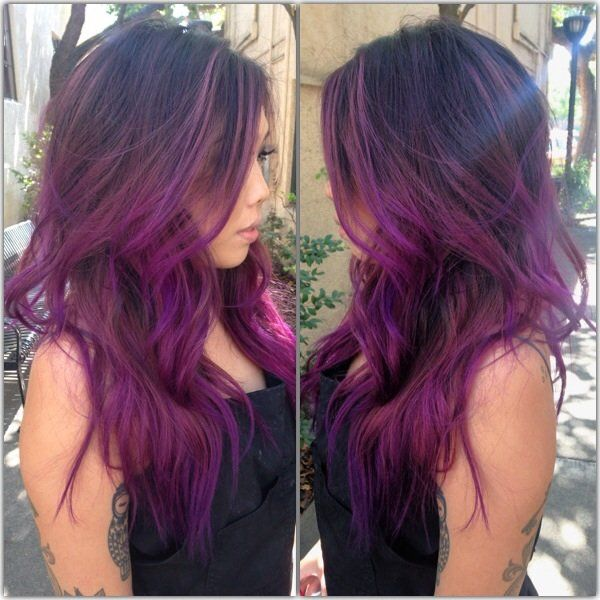 best 25 plum hair highlights ideas on pinterest plum