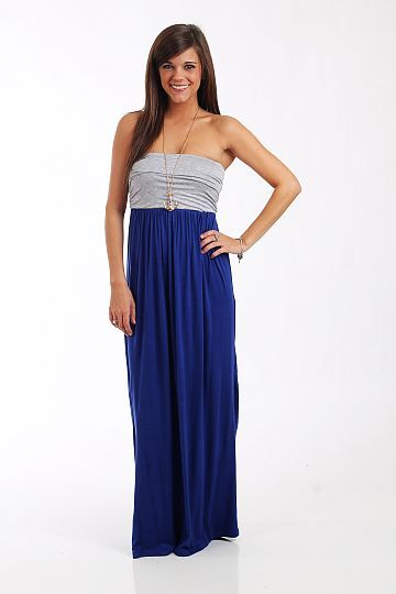 """This maxi is an absolute must have item! The combo of colors is amazing, and we love the way the sides of the bodice are ruched... plus a gathered empire waist is always a great look. Just add your favorite necklace and bracelets! Fits true to size. Miranda is wearing a small. From shoulder to hem: Small - 52"""" Medium - 52.5"""" Large - 53"""""""