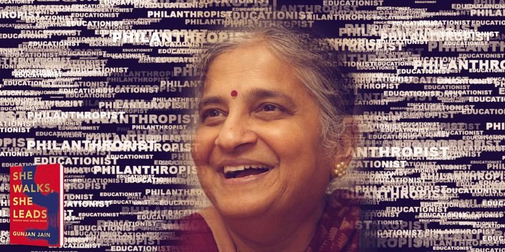 Educationalist and Social Reformer #SudhaMurty featured in #SheWalksSheLeads #Books #Anthology #Poster #WomenWhoInspire #India