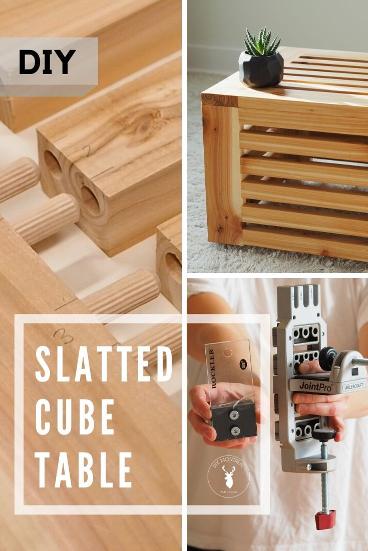 Slatted Cube End Table Diy Furniture Making Cube Table Diy
