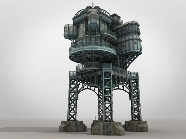 ArtStation - SteamPunk house, Konstantyn Danylenko