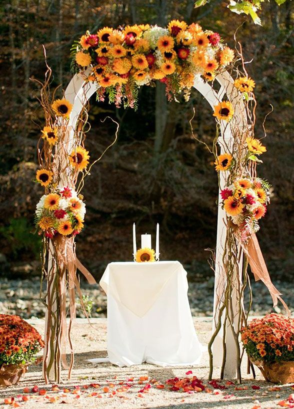 Sunflowers Arch Ideas For Rustic Outdoor Wedding The Wedding Arch For  Katiau0027s Wedding