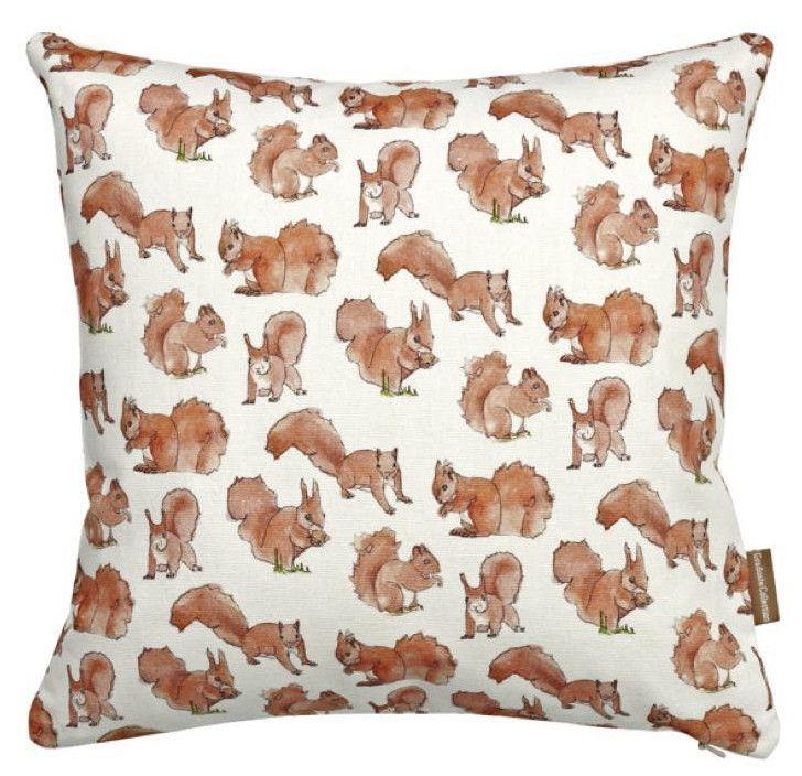 Dainty Squirrel Print Cushion