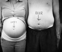 We aren't but this is cute idea   pregnant on We Heart It