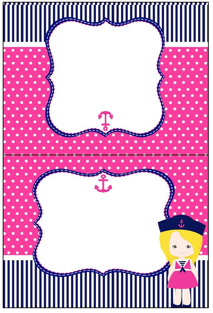 Cartão Agradecimento Menina Marinheira Loira