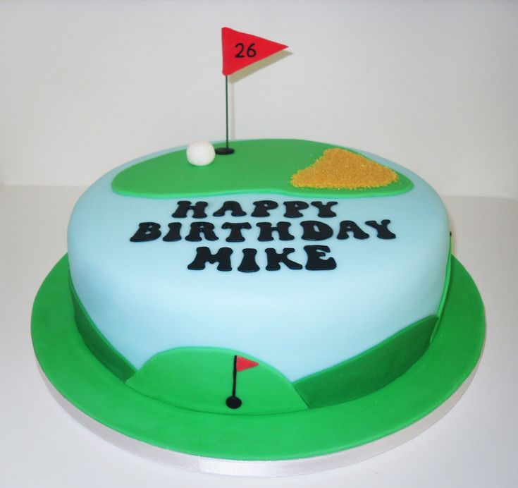 Mike's Golf Cake by The Coloured Bubble Cakery - Find us on Facebook!!