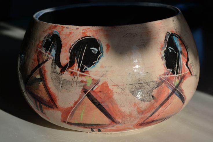 """Vase """" Seven Tanit """" Quasimodo3/Stefania Missio www.quasimodo3.it"""