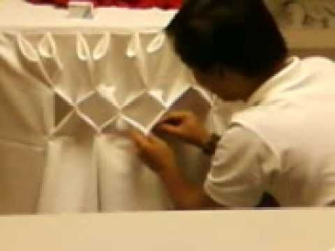 table skirting 4/6 - YouTube