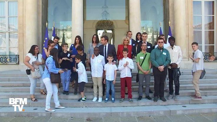 Emmanuel et Brigitte Macron ont reçu des enfants autistes à l'Elysée