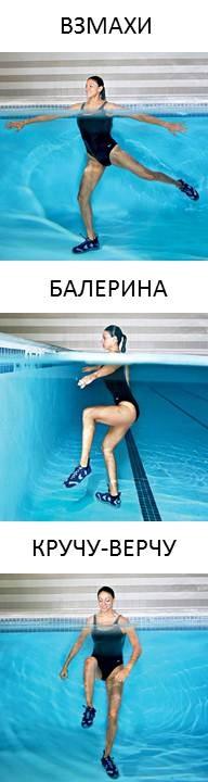 3 эффективных упражнений в воде
