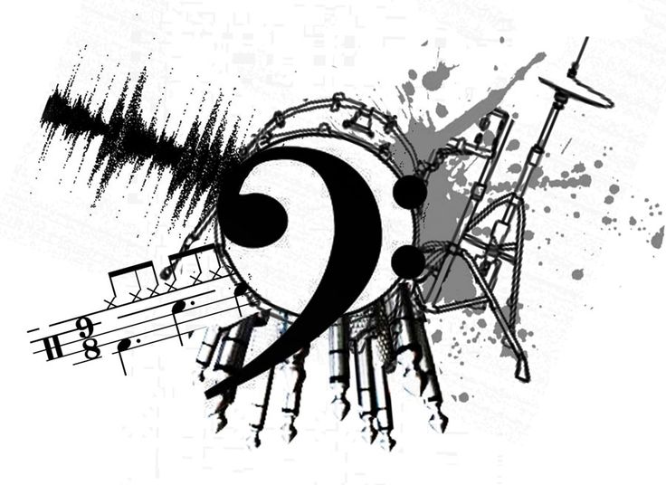 music tattoo design | Bocetos - Drawings | Pinterest ...