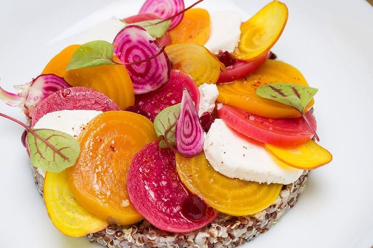 Heritage beetroots salad with organic quinoa, goat cheese is to discovered in all our restaurants.