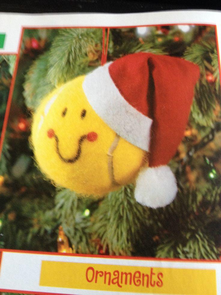 Tennis ball ornaments