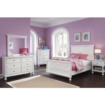 Kaslyn Full Bed, Dresser & Mirror