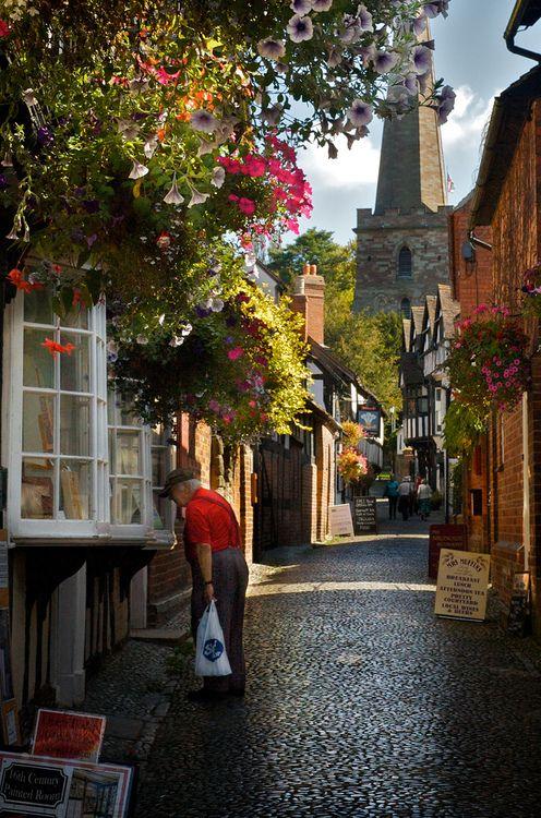 church lane, ledbury, herefordshire, england