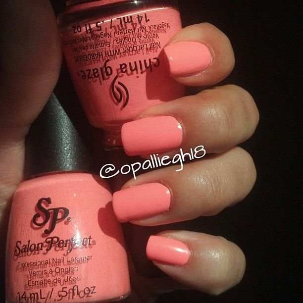 Nail Polish Dupes: Salon Perfect 'Flamingo Flair' & China Glaze 'Flip Flop Fantasy'