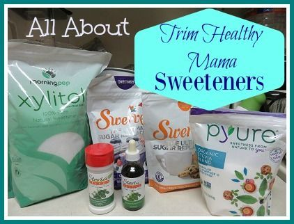All About Trim Healthy Mama Sweeteners and what to do if you can't have certain ones, including stevia and/or sugar alcohols!