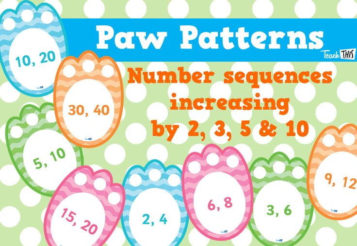 Paw Patterns - Skip Counting