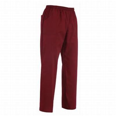 Pantalone Bordeaux con coulisse. Tessuto 35% cotone, 65% poliestere. Disponibile nel colore BORDEAUX.