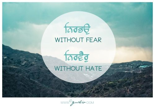 """nirbhau nirvair""   without fear. without hate.     tattoo inspiration"