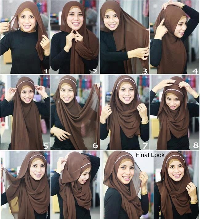 Hijab with headband tutorial