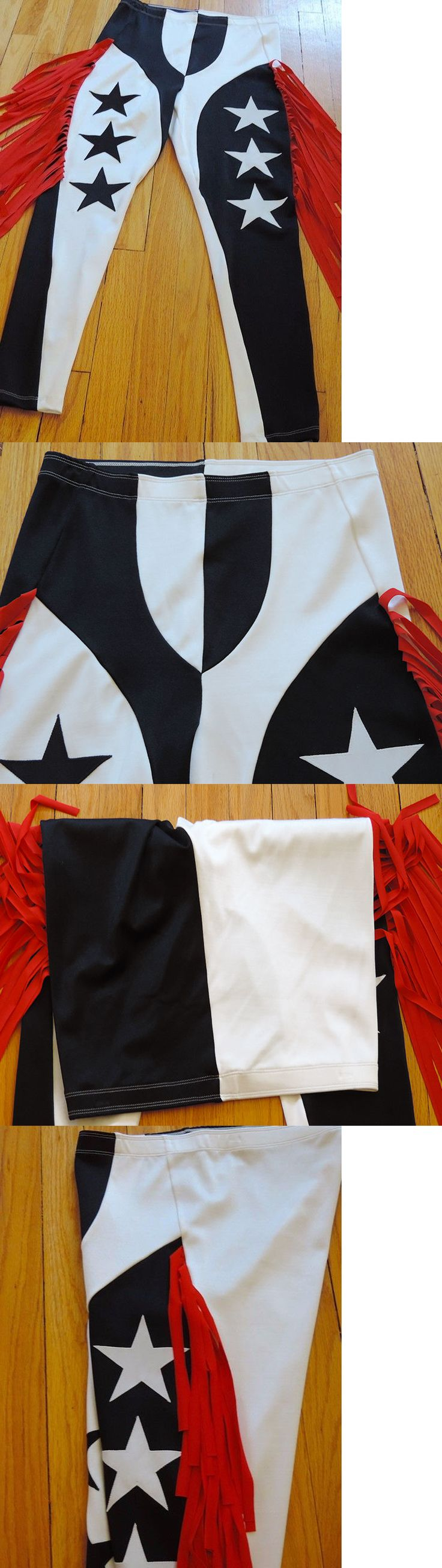 Clothing 79796: L Fringe Wrestling Tights Randy Savage Style Black White Red Star Cosplay Gear -> BUY IT NOW ONLY: $49.99 on eBay!