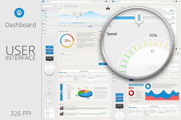 Dashboard - User Interface Template by Florin Constantin, via Behance
