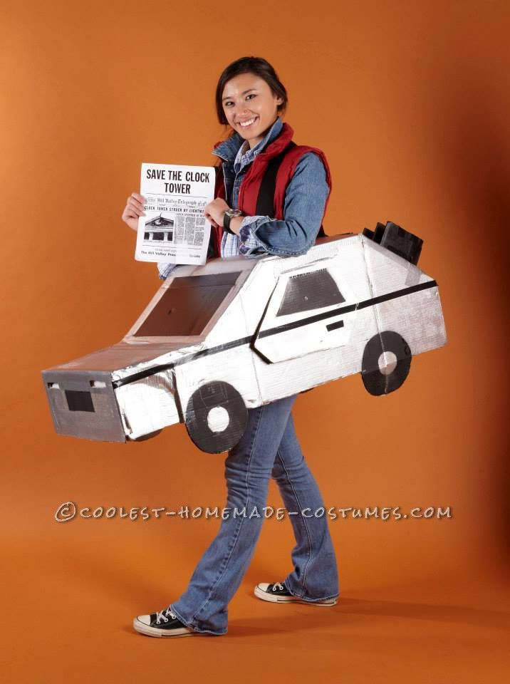 Back to the Future Marty McFly and the Delorean Costume... Coolest Homemade Costumes