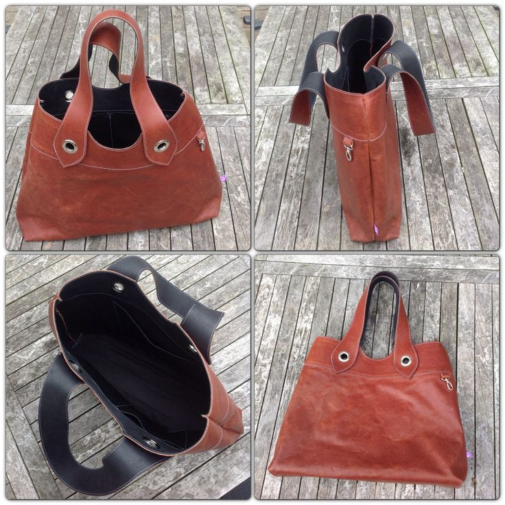 Handmade leather tote bag by TheCrazySmile