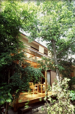 """Another interesting design of a """"breathing house"""", since Japan has so much mold in the air, they use such Japanese cedar as prevents mold and fungus from growing, and charcoal materials in moist areas."""