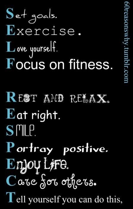 Good principles to live by in order to have health.  #BiggestLoser
