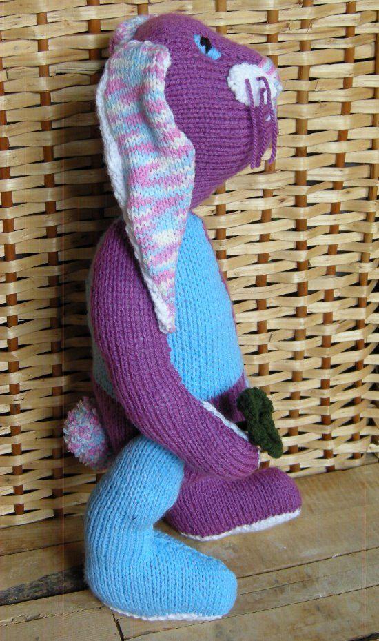 Knitted bunny stuffed bunny easter bunny plush by DucklingInOakum