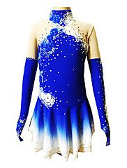 Robe de patinage artistique pour fille/Femme en spandex bleu (tailles assorties)