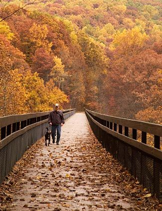 """Great Allegheny Passage biking and hiking is ideal for anyone wanting to blend a """"take it at your own pace"""" adventure with breathtaking scenery and, literally, a journey through history."""