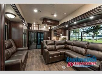 I really like the kitchen and how the couches are set up - Toy haulers with front living room ...
