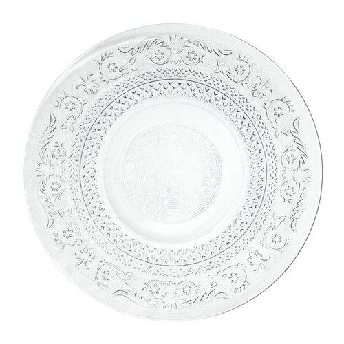 Assiette plate en verre D 25 cm CLASSICA