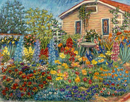 Simple Flower Garden Paintings 73 best cottages with garden - paintings images on pinterest