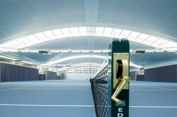 The Hurlingham Racquet Centre is a sports complex including four indoor tennis courts and four squash courts. Image by The Hurlingham Club, London