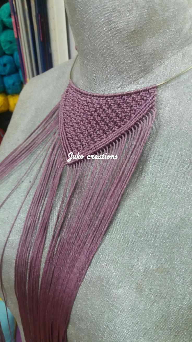 Necklace macrame by Juko creations