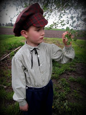 Romantic History: 1860's Boys Button Suit and Coat