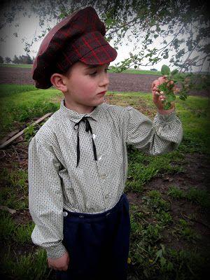 Romantic History: 1860's Boys Button Suit and Coat