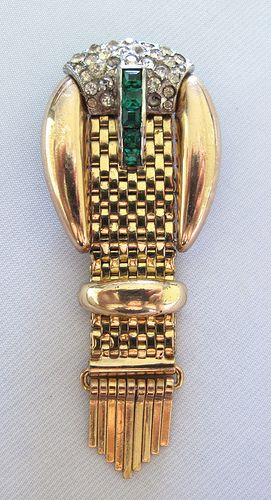 $235 #1846 Kreisler Jewelled Buckle Pin  at Lee Caplan Vintage Collection on RubyLane